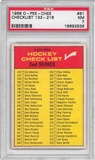 1968/69 O-Pee-Chee Hockey #61 2nd Series Checklist PSA 7 (NM) *2936