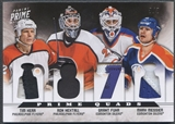 2012/13 Panini Prime #9 Tim Kerr, Ron Hextall, Mark Messier, & Grant Fuhr Quad Patch #5/5