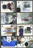 2001 2002 2005 SP Authentic Golf Auto Relic 249 Card Lot