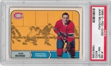 1968/69 O-Pee-Chee Hockey #166 Jean Beliveau PSA 8 (NM-MT) (OC) *7389