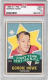 1968/69 O-Pee-Chee Hockey #203 Gordie Howe All Star PSA 7.5 (NM+) *7512