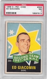 1968/69 O-Pee-Chee Hockey #205 Ed Giacomin All Star PSA 7 (NM) *7513