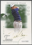 2001 SP Authentic #136 David Toms AS Rookie Auto (Faded) #434/900