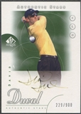 2001 SP Authentic #46 David Duval AS Rookie Auto (Faded) #229/900