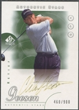 2001 SP Authentic #78 Retief Goosen AS Rookie Auto (Faded) #460/900