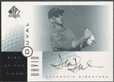 2001 SP Authentic #DD David Duval Sign of the Times Rookie Auto (Faded) SP