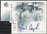 2001 SP Authentic #FC Fred Couples Sign of the Times Auto