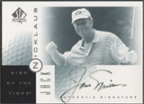2001 SP Authentic #JN Jack Nicklaus Sign of the Times Auto (Faded) SP