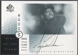 2001 SP Authentic #TW Tiger Woods Sign of the Times Rookie Auto (Faded) SP