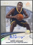 2005/06 SP Game Used #119A Danny Granger Rookie Auto #06/10
