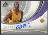 2005/06 SP Game Used #BY Andrew Bynum SIGnificance Rookie Auto #17/25
