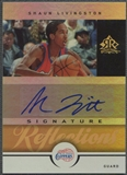 2005/06 Reflections #SL Shaun Livingston Signatures Gold Auto #3/5