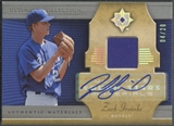 2005 Ultimate Collection #ZG Zack Greinke Young Stars Signature Materials Jersey Auto #04/20
