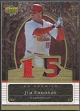 2007 Upper Deck Premier #ED Jim Edmonds Dual Gold Patch #33/42
