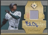 2005 Ultimate Collection #CC Carl Crawford Young Stars Signature Materials Jersey Auto #09/20