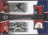 2006 Ultimate Collection #LH Francisco Liriano & Cole Hamels Tandem Materials Patch #06/35