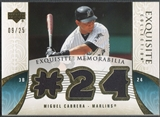 2006 Exquisite Collection #MC2 Miguel Cabrera Memorabilia Gold Jersey #09/25