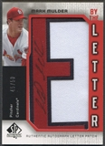 "2006 SP Authentic #MM Mark Mulder By the Letter ""E"" Patch Auto #45/50"