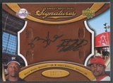 2007 Sweet Spot #SS2RH Rickie Weeks & Howie Kendrick Signatures Dual Glove Auto #12/15