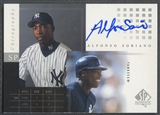 2000 SP Authentic #AS Alfonso Soriano Chirography Auto