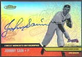 2002 Finest #FMAJS Johnny Sain Finest Moments Auto