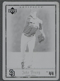 2006 Artifacts #73 Jake Peavy Printing Plate Black #1/1