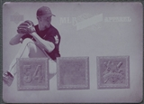 2006 Artifacts #BL Brad Lidge MLB Game-Used Apparel Printing Plate Magenta #1/1