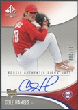 2006 SP Authentic #283 Cole Hamels Rookie Auto #126/299