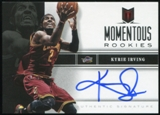2012/13 Panini Momentum Momentous Rookies Autographs #19 Kyrie Irving