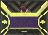 2007/08 UD Black #JO Magic Johnson Gold Patch Auto #03/10