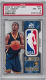 2009/10 Upper Deck SP Game Used Logoman Roy Hibbard Serial #3/8 Indiana Pacers PSA 8