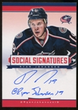 2012/13 Panini Hockey Ryan Johansen Autograph Social Media Inscribed Hard Signed