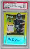 2013 Panini Select GOLD RC Markus Wheaton Serial #3/10 4 Color LOGO Patch Autographed PSA 9 oc