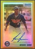 2010 Bowman Chrome Prospects #BCP205 Miguel Sano Gold Refractor Rookie Auto #42/50