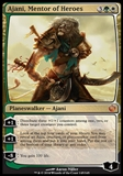 Magic the Gathering Journey into Nyx Single Ajani, Mentor of Heroes Foil NEAR MINT (NM)