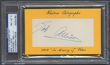 2010 Historic Autograph In Memory Of Bob Allison Auto #1/1 PSA DNA