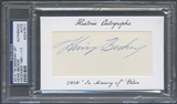 2010 Historic Autograph In Memory Of Heinz Becker Auto #1/7 PSA DNA