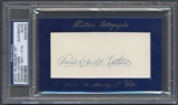 2010 Historic Autograph In Memory Of Chick Lathers Auto #07/14 PSA DNA