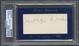 2010 Historic Autograph In Memory Of George Sisler Auto #57/88 PSA DNA