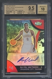 2007/08 Finest #104 Russell Westbrook Draft Picks Rookie Refractor Auto BGS 9.5
