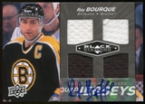 2010/11 Upper Deck Black Diamond Ray Bourque ONYX Serial #4/5 Autograph SP
