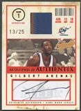 2004/05 Fleer Authentix #GA Gilbert Arenas Patch Auto #13/25