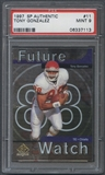 1997 SP Authentic Football #11 Tony Gonzalez Rookie PSA 9 (MINT) *7113