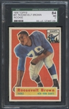 1956 Topps Football #41 Roosevelt Brown Rookie SGC 84 (NM) *7006