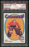 1971/72 O-Pee-Chee RC #45 Ken Dryden Graded PSA 9 MINT *8486*
