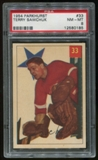 1954/55 Parkhurst #33 Terry Sawchuk Graded PSA 8 (NM-MT) *0185