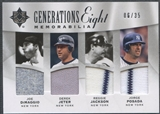 2009 Ultimate Collection Joe DiMaggio Derek Jeter Jackson Posada Murray Delgado Berra Beltran Jersey #06/35