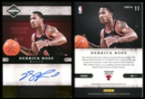 2011/12 Panini Limited Signatures Gold Spotlight #11 Derrick Rose 4/5 Autograph