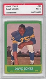 1963 Topps Football Dave Deacon Jones Rookie PSA 7 (NM) *6435