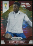 2014 Panini Prizm World Cup Prizms Yellow and Red Pulsar #141 Danny Welbeck